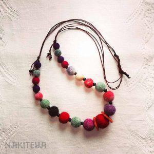 polstena ogrlica - mavrična - 1000