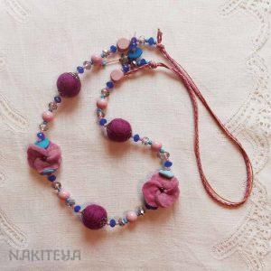 polstena ogrlica -pomladanska - 1000