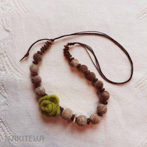 polstena ogrlica rjava - 1000