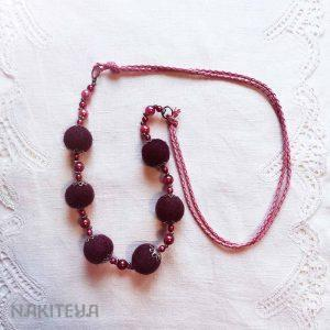 polstena ogrlica temna ciklama - 1000